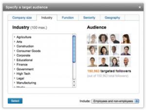 LinkedIn målgruppe