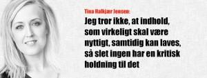 Tina Halkjær Jensen om godt indhold