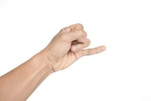 Lillefingeren stritter - har du fine fornemmelser, når du laver content marketing?
