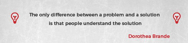 Forskellen mellem et problem og en løsning