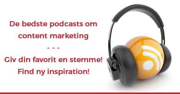 Find inspiration til det næste content marketing podcast