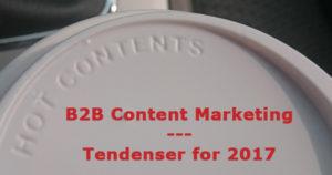 B2B content marketing i 2017