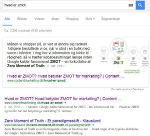 Page zero eksempel i content marketing