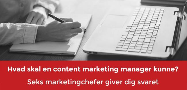 Content marketing manager header
