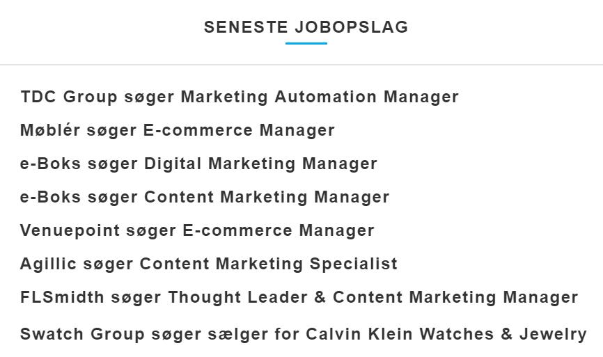 Content marketing manager jobs hos Dansk Markedsføring